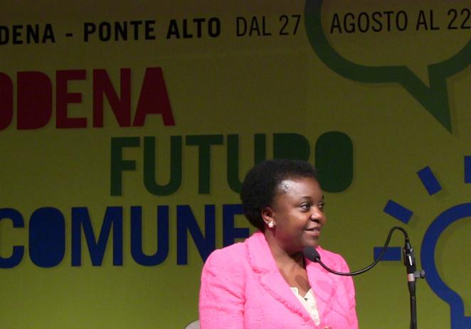 #giorno01 – A tutta festa! Si parte col ministro Cécile Kyenge