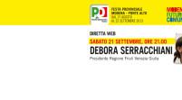 Debora Serracchiani in diretta streaming