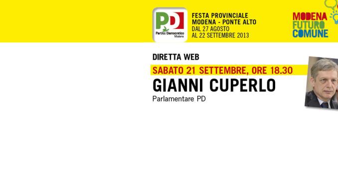 Gianni Cuperlo in diretta streaming