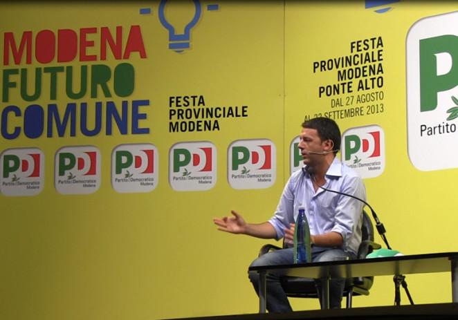 Matteo Renzi nell'arena