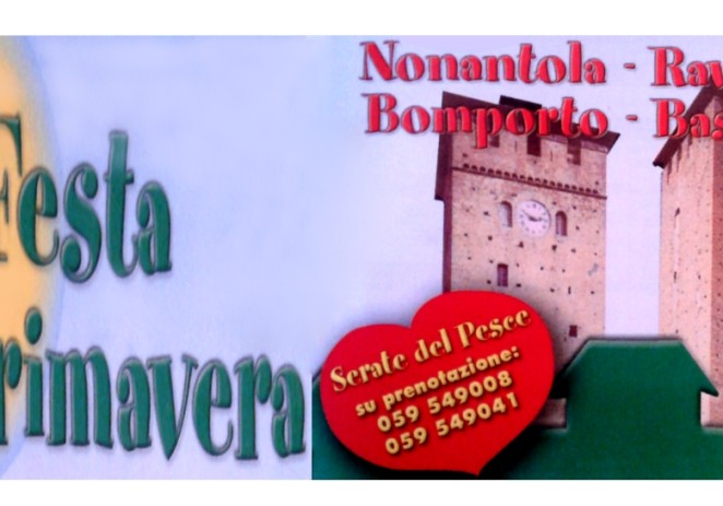 """Nonantola, al via venerdì 11 aprile la """"Festa di primavera"""""""
