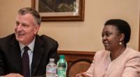 Cécile Kyenge ha incontrato il sindaco di New York Bill De Blasio
