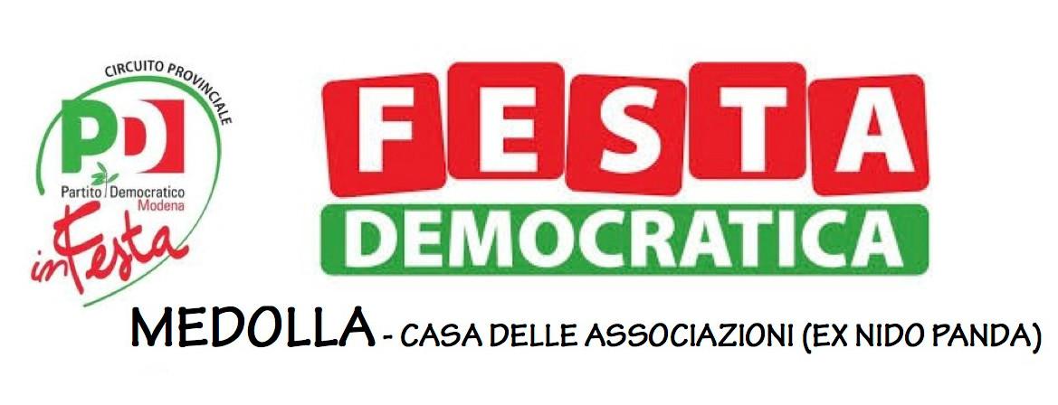 Medolla, da venerdì 22 a domenica 24 agosto la Festa democratica