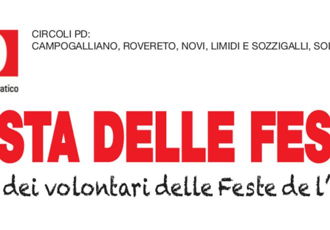 """Venerdì a Soliera """"Festa delle Feste"""", a cena con i volontari"""