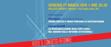 Due giorni Assemblea Pd: stasera Ignazi e Vandelli, sabato Calvano