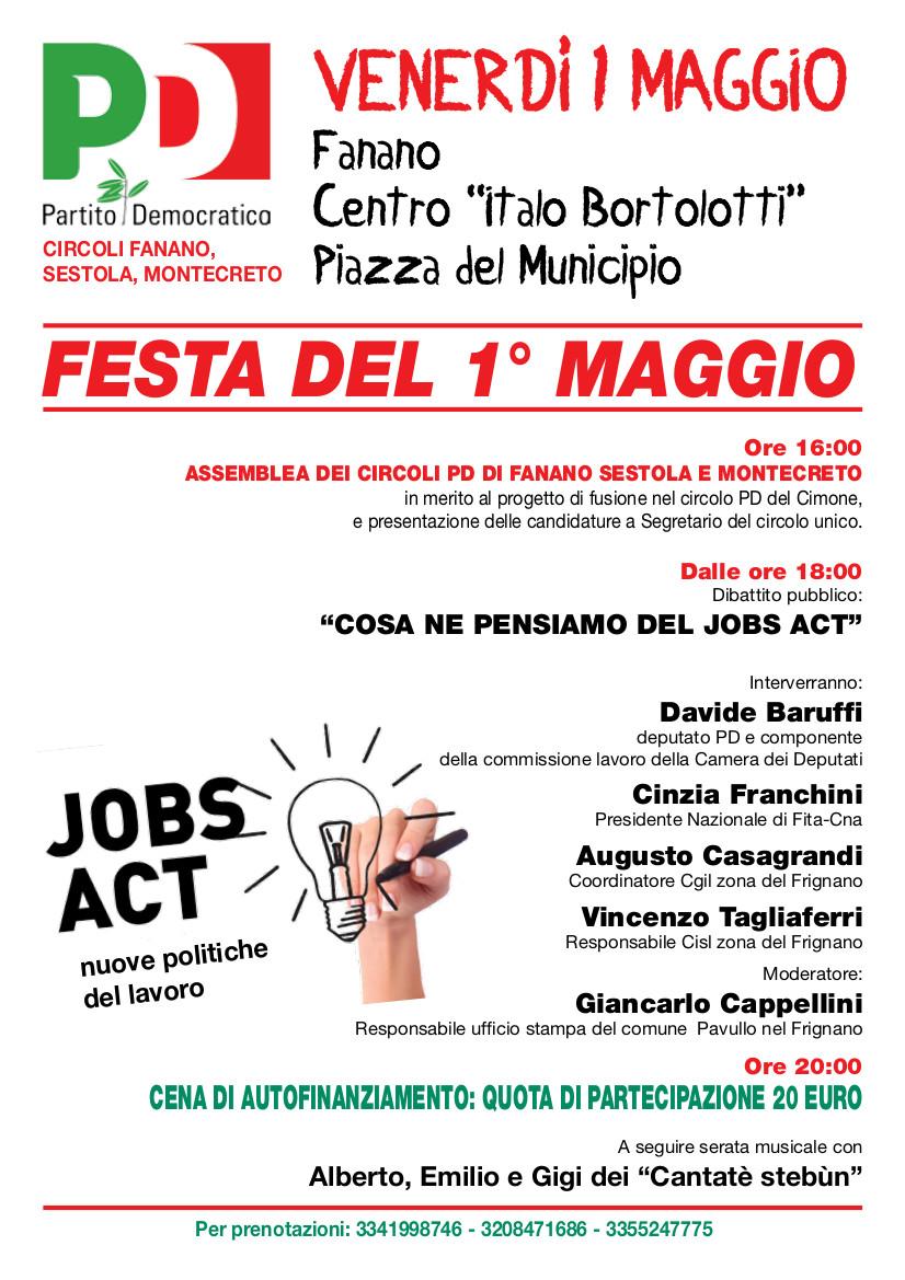 pavullo 1 maggio job acts