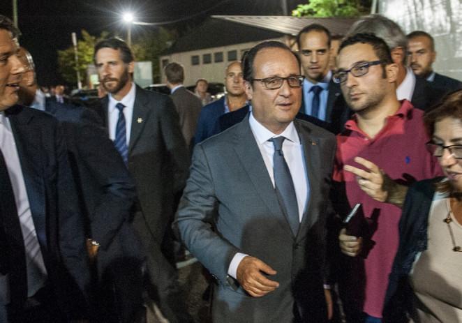 Matteo Renzi e François Hollande alla Festa de l'Unità di Modena
