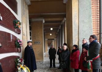 Il segretario Pd Davide Fava venerdì rende omaggio a Rubes Triva