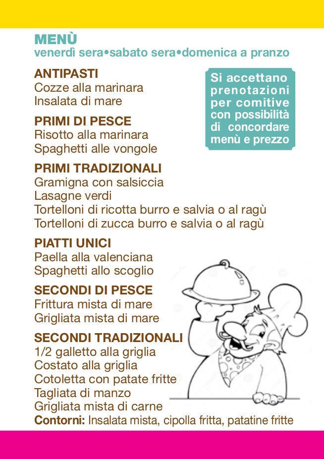 Programma SPETTACOLI_menù