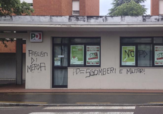 """San Faustino, Pd """"Netta condanna del vile gesto vandalico"""""""