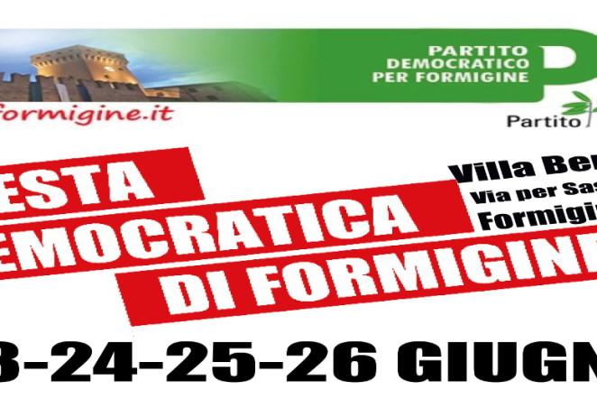 Pd Formigine, dal 23 al 26 giugno torna la Festa democratica