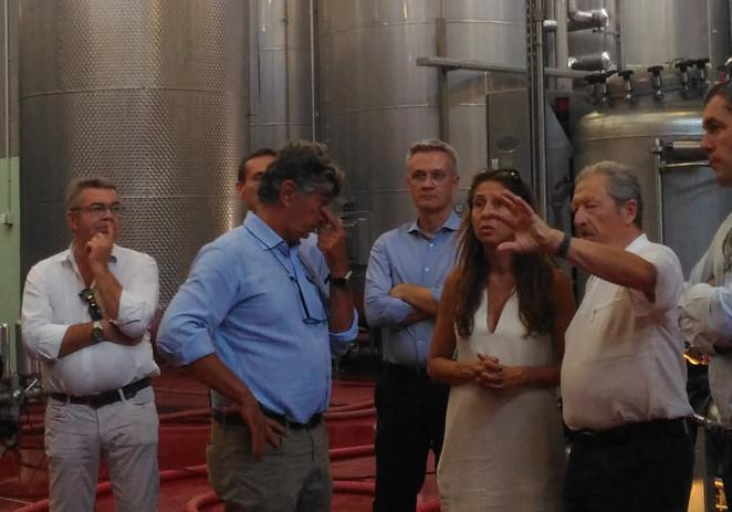 Giornata di visite e incontri per l'ex ministro francese Souchon