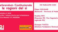 Referendum, venerdì si parla del Sì con Vacca, Pini e Molinari