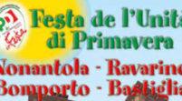 Venerdì prende il via la Festa de l'Unità di primavera a Nonantola
