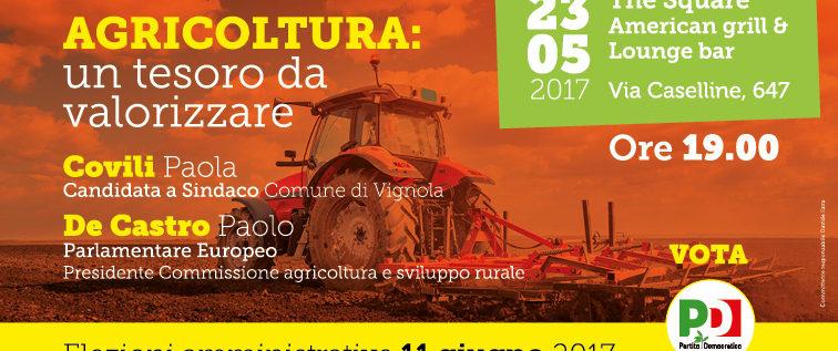Vignola, martedì si parla di agricoltura con l'ex ministro De Castro