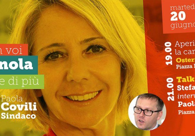Vignola, questa sera aperitivo e talk show con Paola Covili