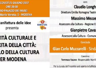 Manifattura delle Idee, mercoledì sera si parla di politiche culturali
