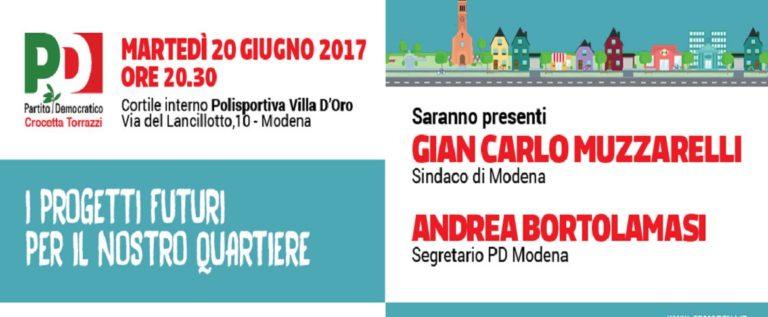 Pd Crocetta/Torrazzi, martedì incontro con Muzzarelli e Bortolamasi