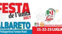 Da venerdì 21 a domenica 23 luglio la Festa de l'Unità di Albareto