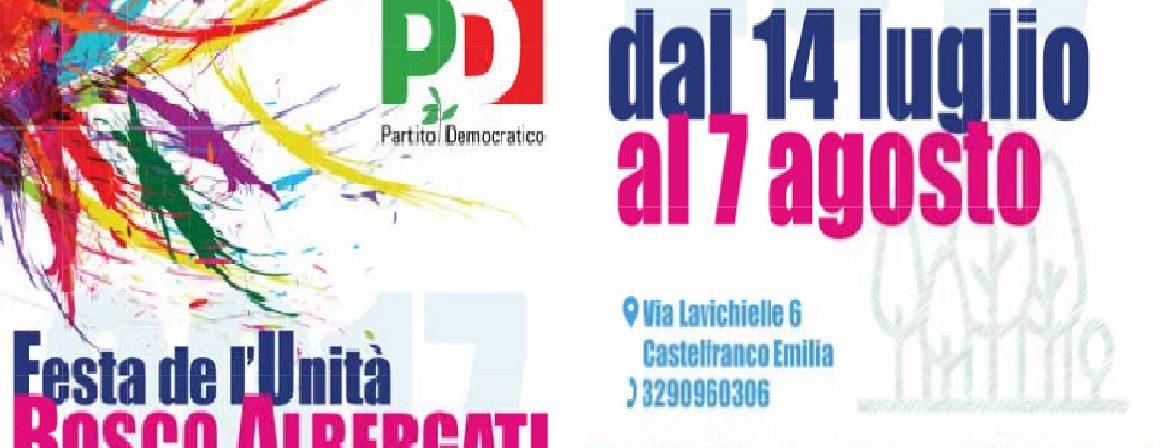Bosco Albergati, torna dal 14 luglio al 7 agosto la Festa de l'Unità