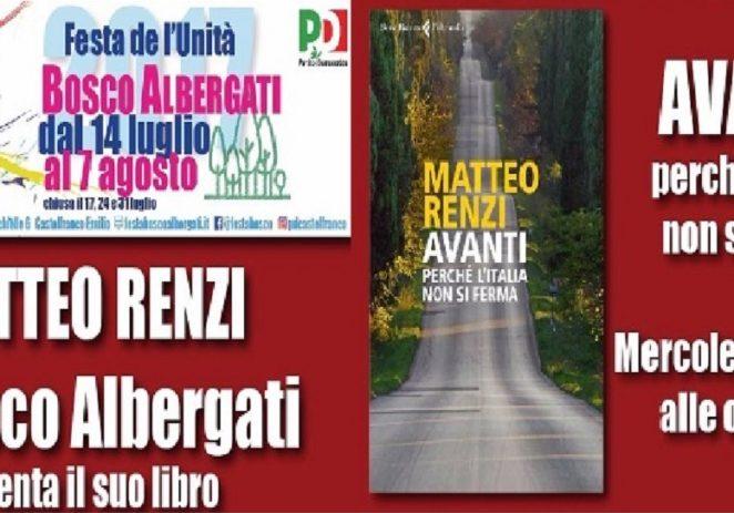 Bosco Albergati, incontro con il segretario nazionale Pd Renzi