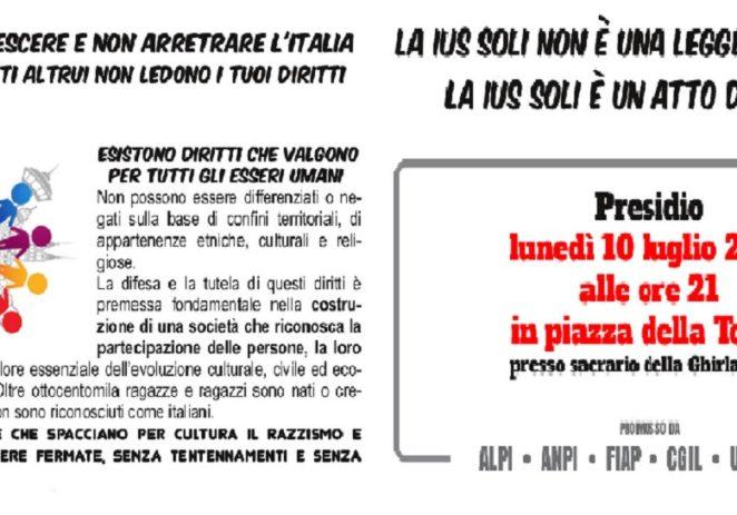 """Ius soli, Lucia Bursi """"Aderiamo al presidio di lunedì sera in piazza Torre"""""""