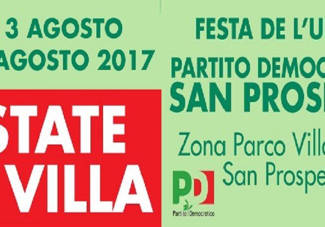 San Prospero: Festa de l'Unità, da giovedi 3 a domenica 13 agosto