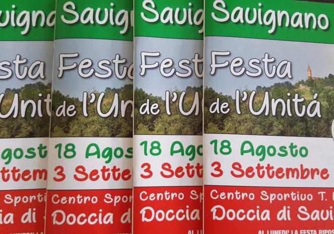Savignano, torna dal 18 agosto al 3 settembre la Festa de l'Unità