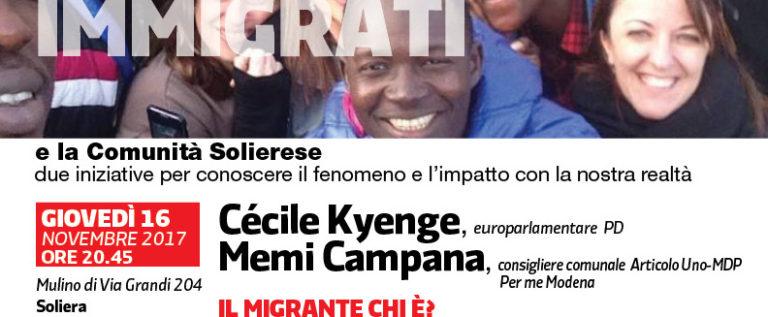 Soliera, giovedì sera incontro sui migranti con l'on. Kyenge