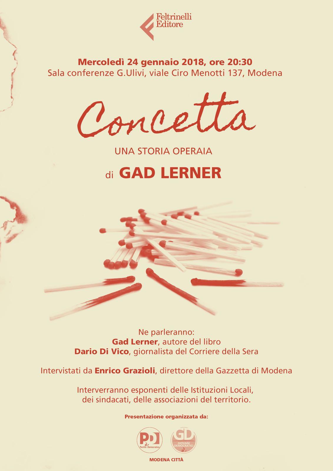 Il 24 gennaio Gad Lerner a Modena