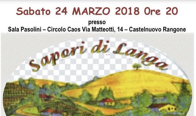 """Pd Castelnuovo, sabato 24 marzo a cena con """"Sapori di Langa"""""""