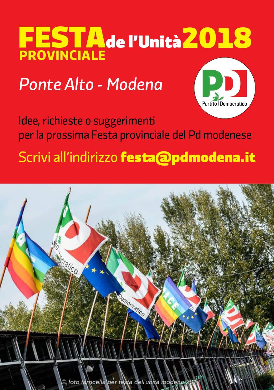 Festa de l'Unità provinciale 2018