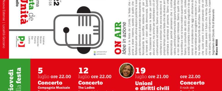 Pd Maranello, dal 5 al 22 luglio torna la Festa de l'Unità a Gorzano