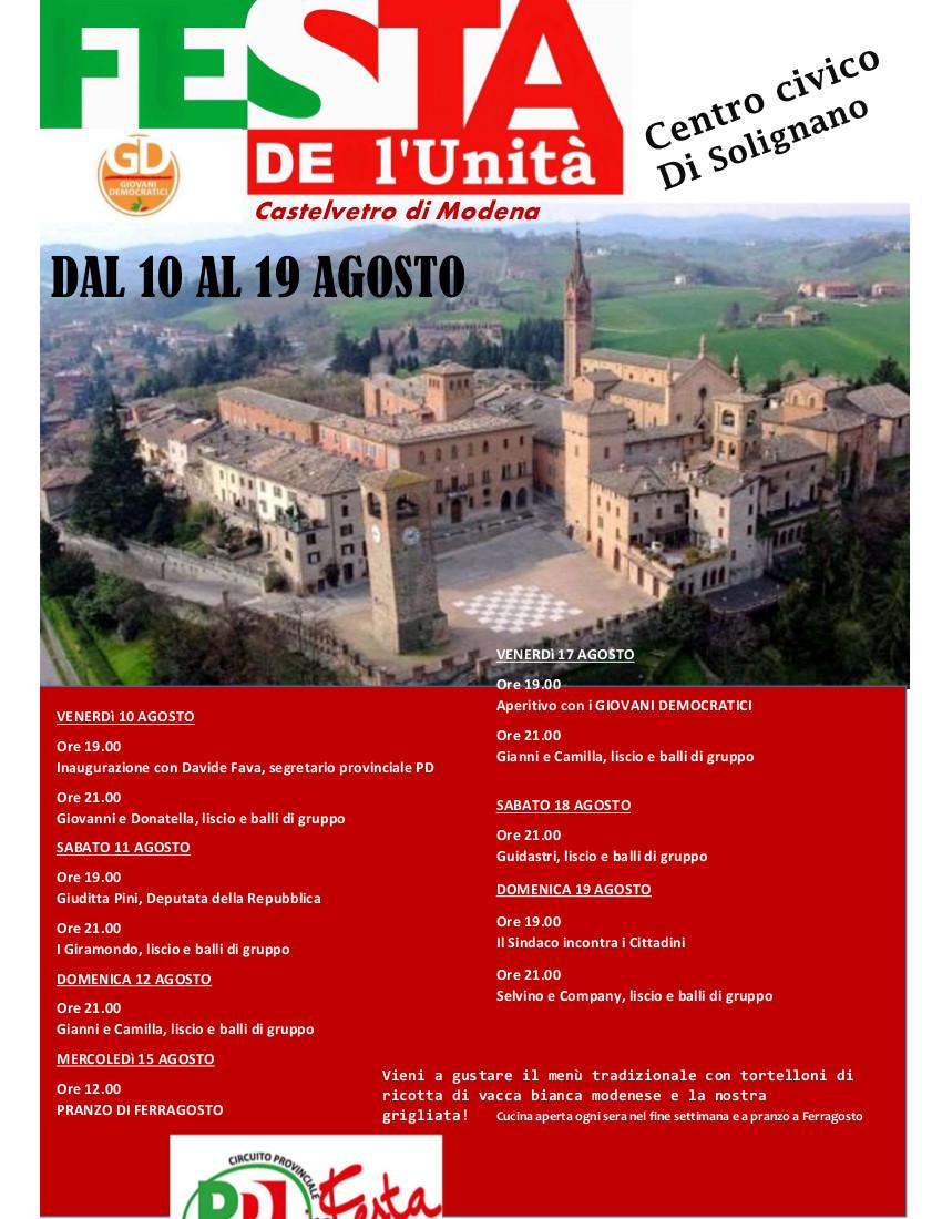 Festa de l'Unità di Castelvetro