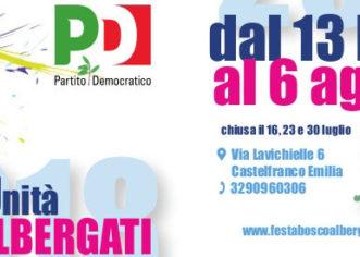 Bosco Albergati, torna dal 13 luglio al 6 agosto la Festa de l'Unità