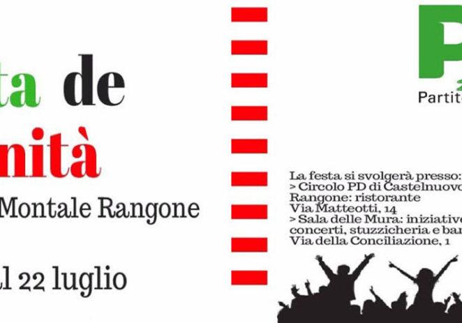Castelnuovo e Montale, dal 19 al 22 luglio torna la Festa de l'Unità