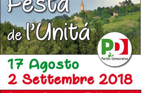 Savignano sul Panaro, venerdì 17 agosto il via alla Festa de l'Unità
