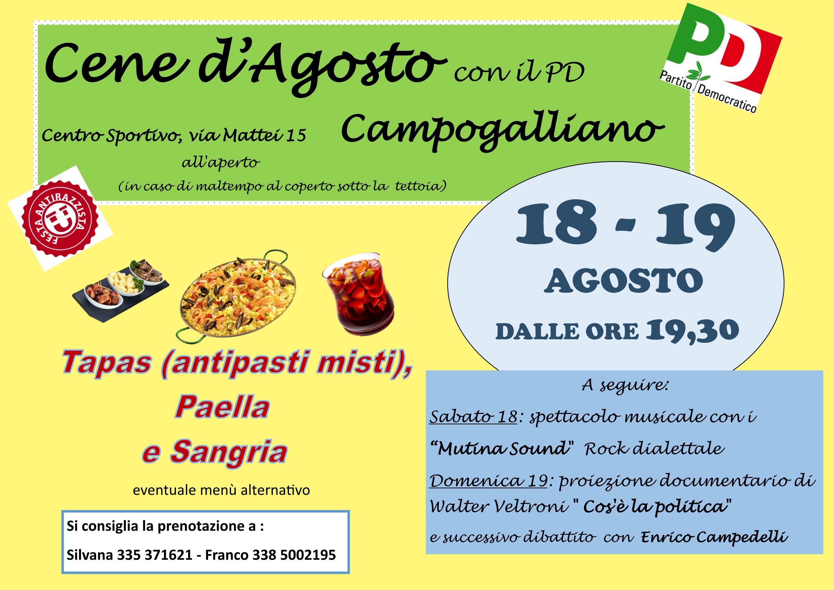 Cene d'agosto a Campogalliano