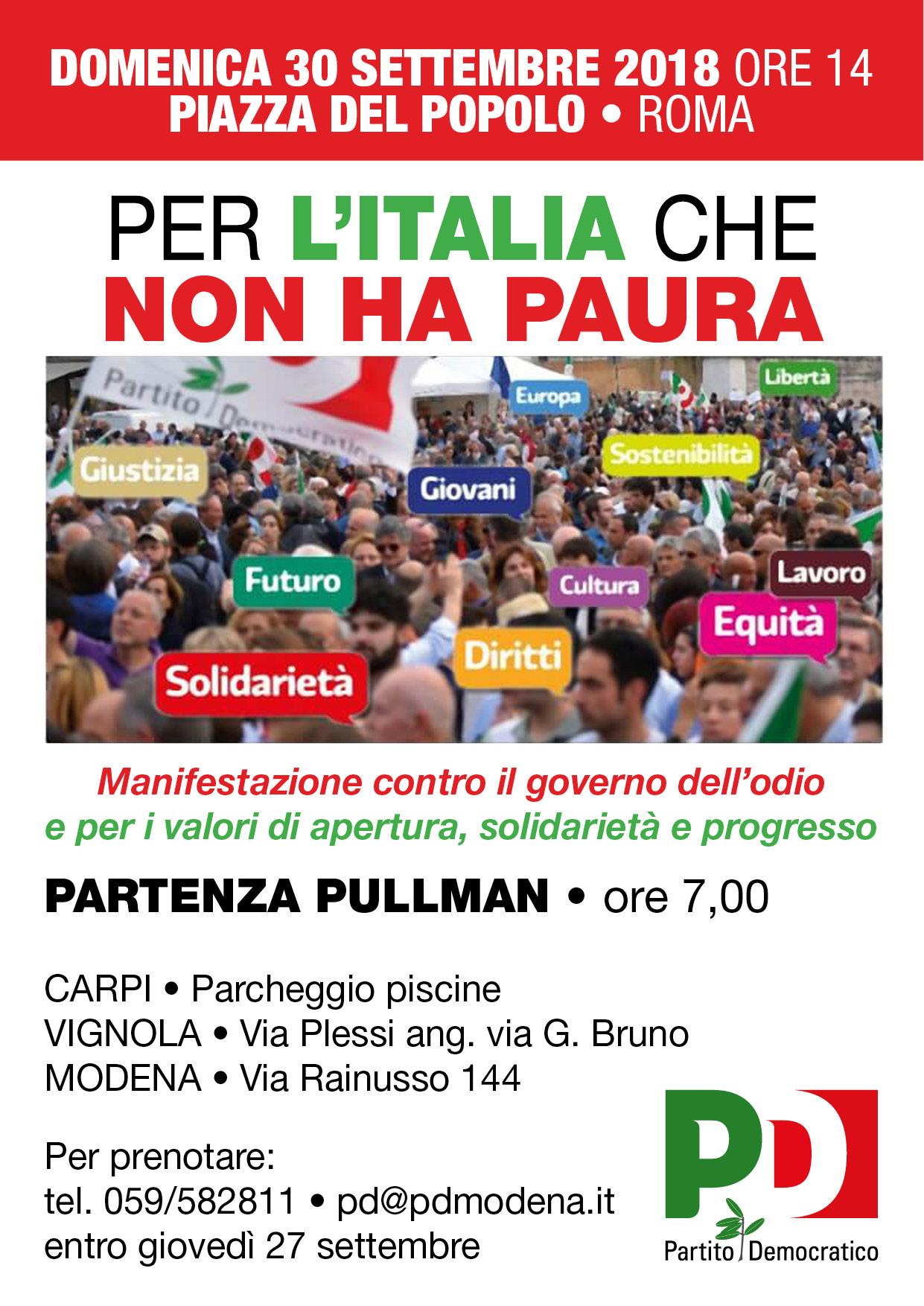 A Roma il 30 settembre