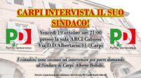 """La sera di venerdì 19 ottobre """"Carpi intervista il suo sindaco!"""""""