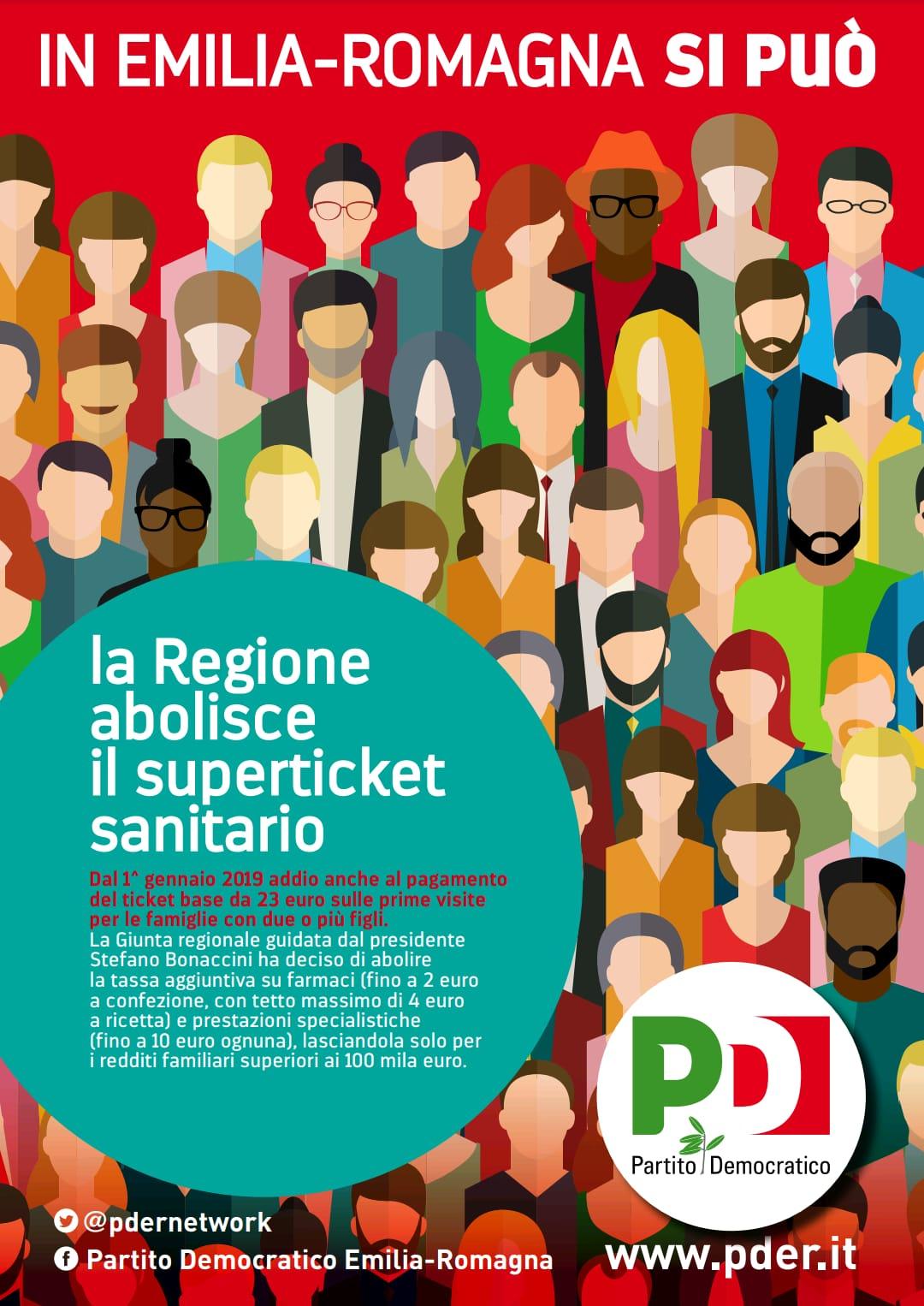 La Regione abolisce il superticket