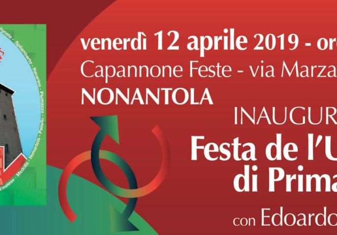 Venerdì inaugura a Nonantola la Festa de l'Unità di Primavera