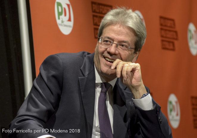 Venerdì Paolo Gentiloni a Maranello, Fiorano, Sassuolo e Modena