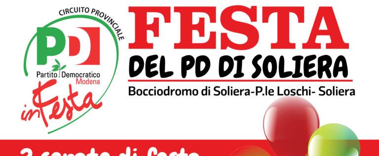 Da venerdì 14 a domenica 16 giugno la Festa del Pd di Soliera