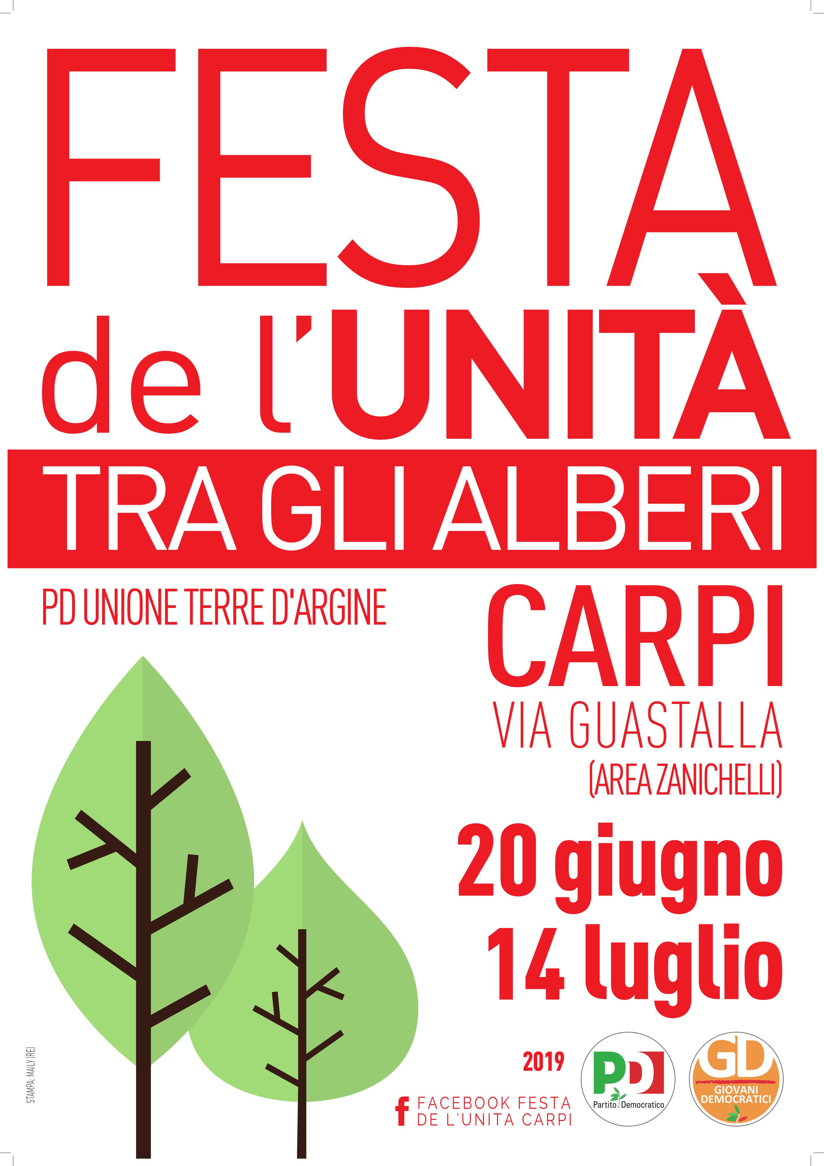 Festa Pd Terre d'argine, 20 giugno-14 luglio
