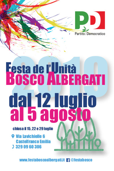 Bosco Albergati (12 luglio – 5 agosto)
