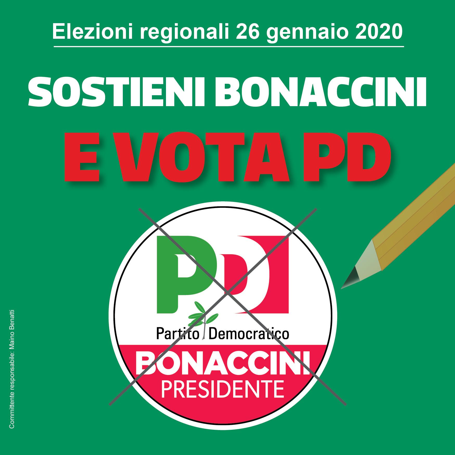 Sostieni Bonaccini e vota Pd