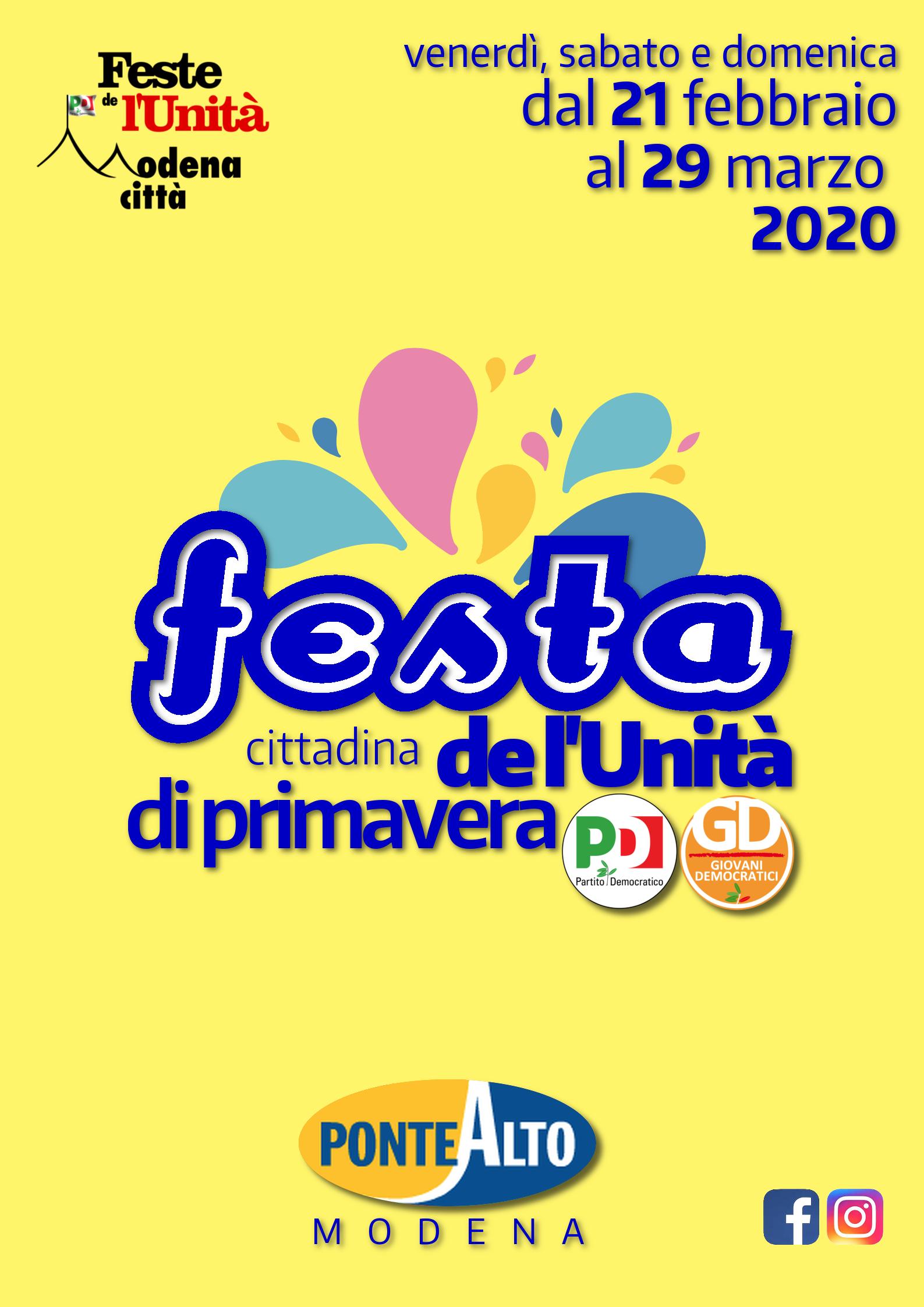 Ponte Alto, Festa de l'Unità di primavera
