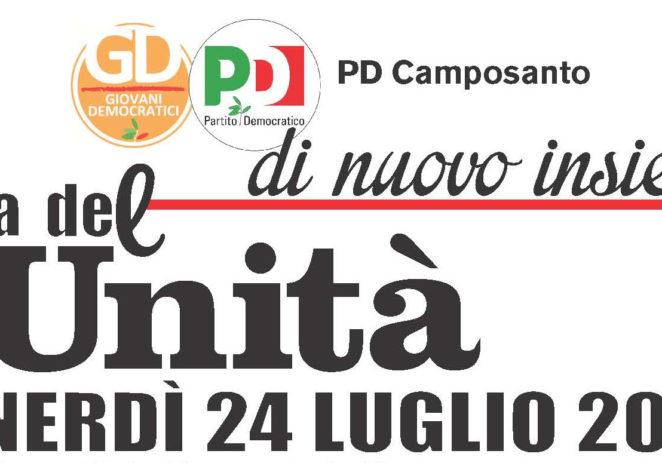 Pd Camposanto, venerdì cena de L'Unità presso la ex Pista rossa