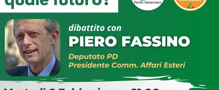 Pd e Gd Bassa Modenese, martedì diretta Fb con Piero Fassino